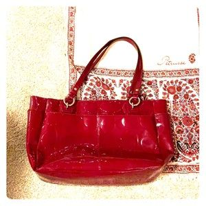 Patent Leather coach satchel